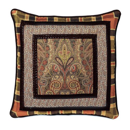 Eastern Accents Broderick Polyester Border Collage Decorative Pillow