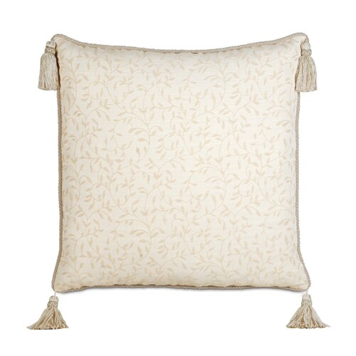 Eastern Accents Brookfield Polyester Hayes Blossom Decorative Pillow with Cord and Tassels
