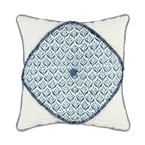 Eastern Accents Ceylon Polyester Kari Iris Diamont Tufted Decorative Pillow