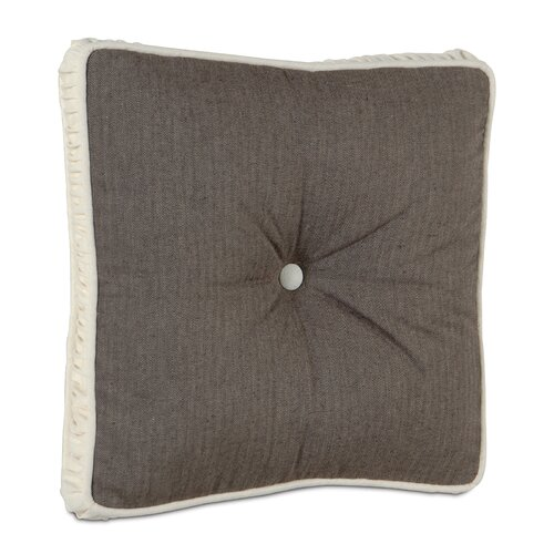 Eastern Accents Daphne Polyester Flint Boxed and Tufted Decorative Pillow