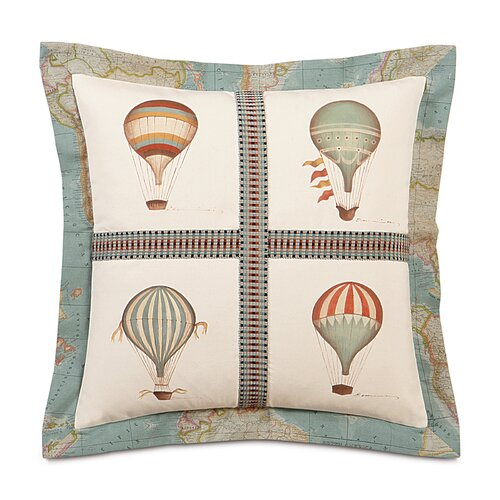 Kai Hand Painted Baloons Flange Decorative Pillow
