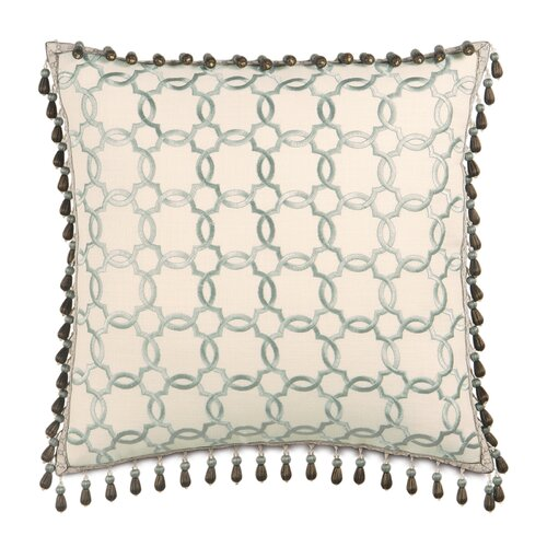 Kira Verlaine Beaded Trim Decorative Pillow