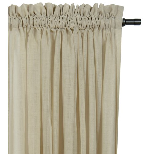 Eastern Accents Palapa Ruffled Rod Pocket Curtain Single Panel