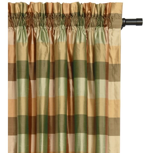 Eastern Accents Beckford Silk Plaid Cotton Rod Pocket Curtain Single Panel