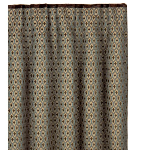Eastern Accents Chapman Danville Sea Cotton Pleated Curtain Single Panel