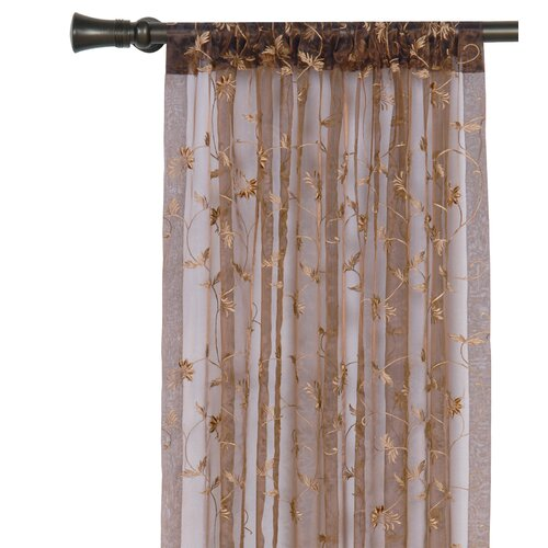 Eastern Accents Alexia Embroidered Rod Pocket Curtain Single Panel