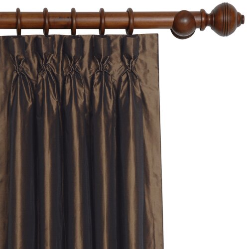 Eastern Accents Freda Solid Tafetta Cotton Rod Pocket Curtain Single Panel