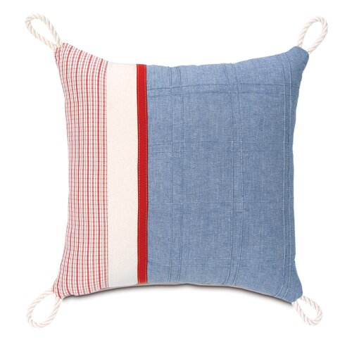Carter Polyester Dune Denim Decorative Pillow with Loops in Corners