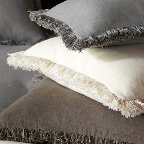 Eastern Accents Breeze Mitered Polyester Decorative Pillow with Brush Fringe