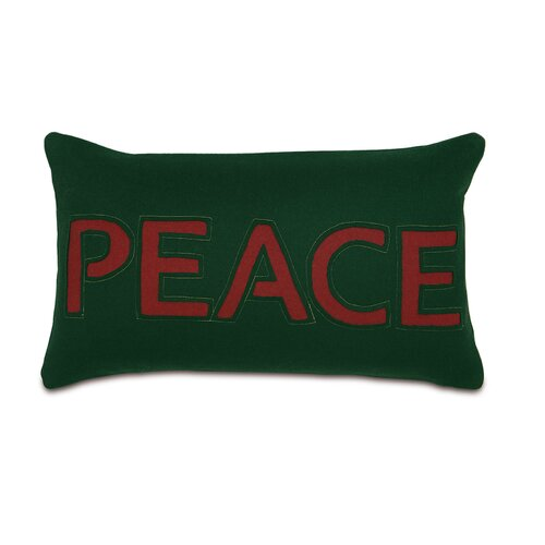 Home for The Holidays Peace Decorative Pillow