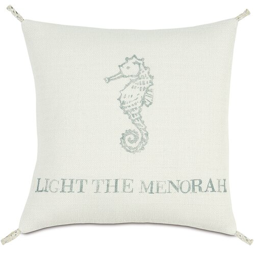 Eastern Accents Coastal Tidings Light The Menorah Pillow