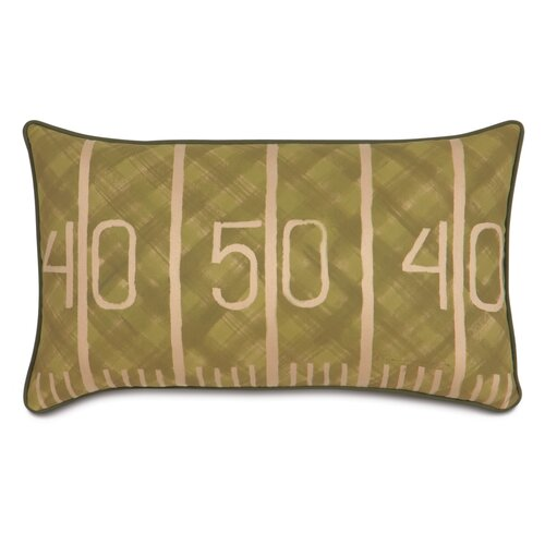 Pinkerton Polyester Eli Football Field Decorative Pillow