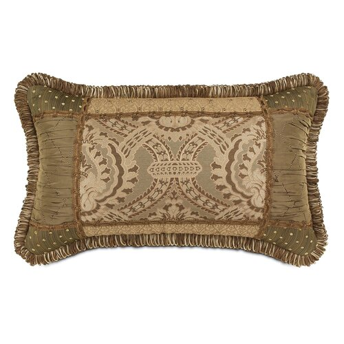 Eastern Accents Nottingham Polyester Collage Decorative Pillow with Loop Fringe