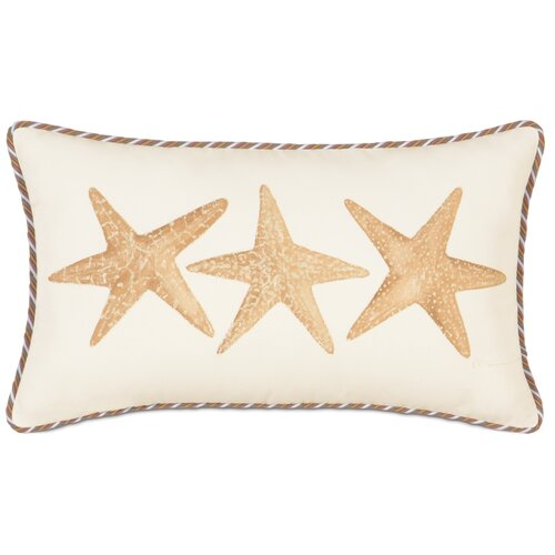 Eastern Accents Caicos Polyester Hand-Painted Starfish Decorative Pillow