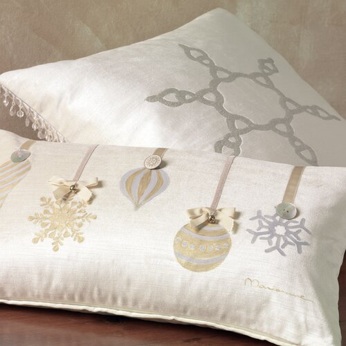 Eastern Accents Deck The Halls Metallic Ornaments Decorative Pillow
