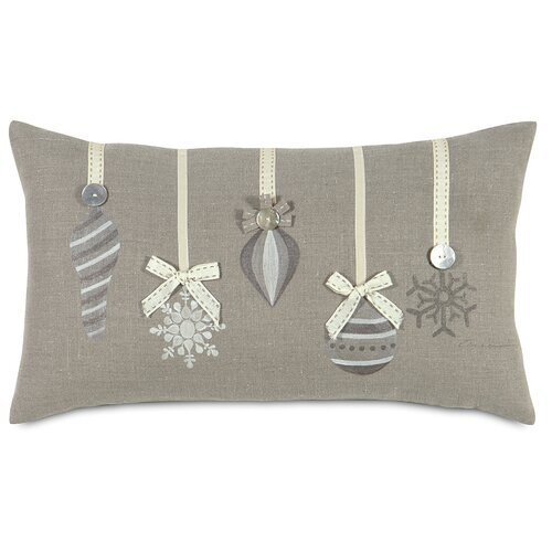 Eastern Accents Dreaming of a White Christmas Glistening Ornaments Pillow