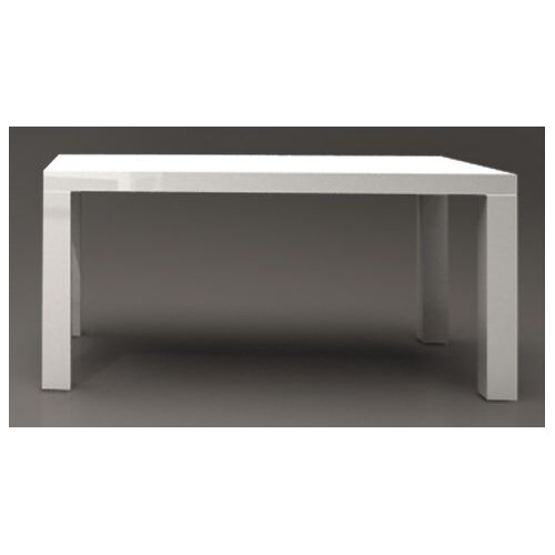 DG Furniture Bianca Rectangular Dining Table in 2 Pak White