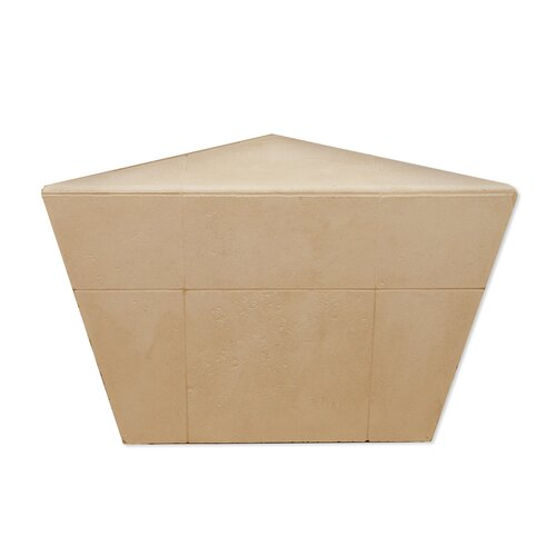 American Bath Factory Corner Shower Bench in Medium Stone
