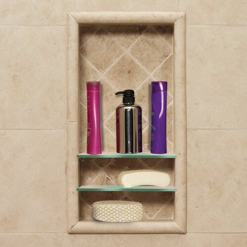 American Bath Factory Optional Recessed Shampoo Shelf in Medium Stone