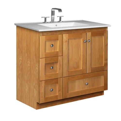 strasser woodenworks simplicity 37 single bathroom vanity