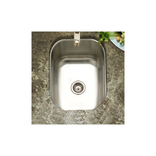 "Houzer Club 12.44"" x 14.69"" Undermount Small Bar Sink"