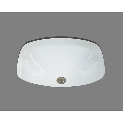 Bates & Bates Ceramics Loretta Undermount Bathroom Sink with Overflow