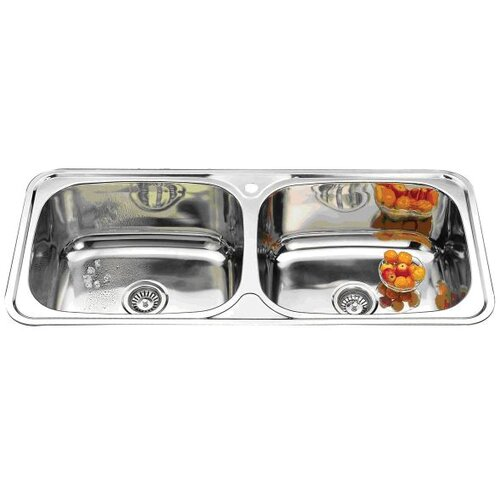 Ostar Flush Line Double Bowl Kitchen Sink