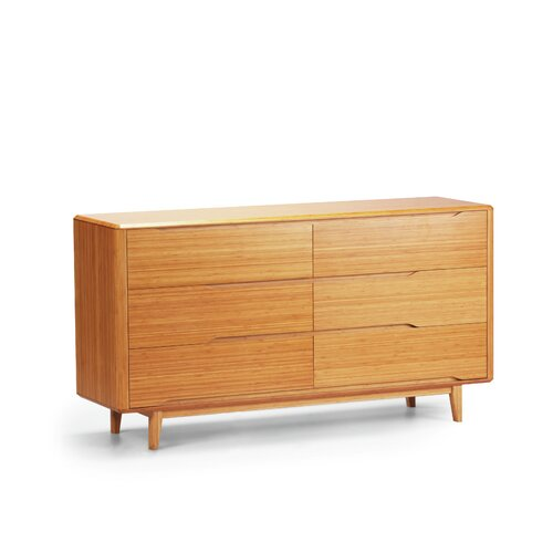 Currant 6 Drawer Bamboo Dresser