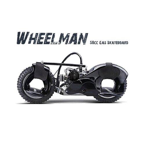 Big Toys Wheelman 50cc Gas Skateboard in Black