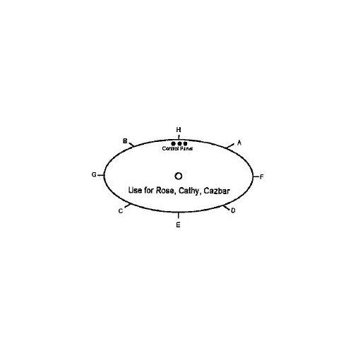 Lanark Rose Oval Platinum Luxury Twin Pump Spa
