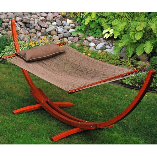 Algoma Net Company 12' Arc Stand and Caribbean Hammock with Pillow