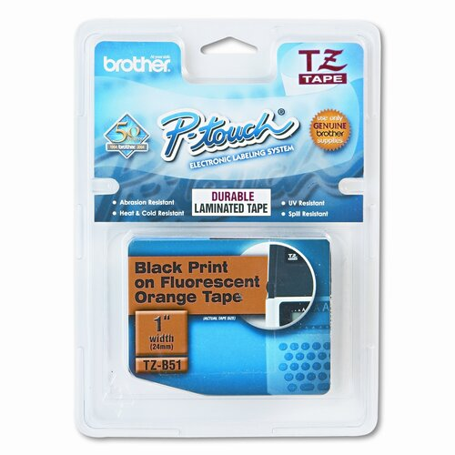 P-Touch Tz Standard Adhesive Laminated Labeling Tape, 1