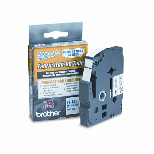 Brother P-Touch Tz Industrial Series Fabric Iron-On Tape