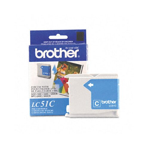Brother LC51C Innobella Ink, 400 Page-Yield