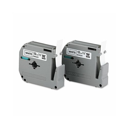 Brother P-Touch M Series Tape Cartridge for P-Touch Labelers, 2/Pack