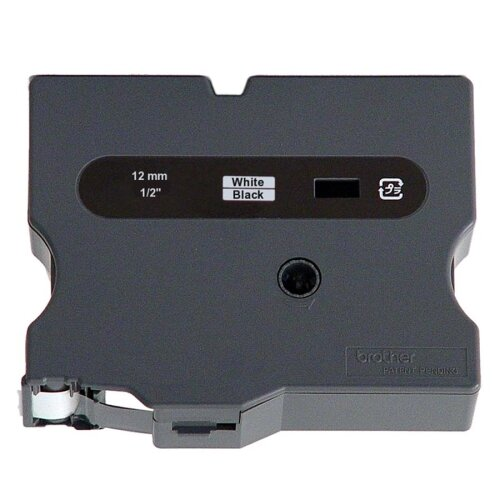 "Brother TX3351 Tape Cartridge, 1/2"" Size, White/Black"