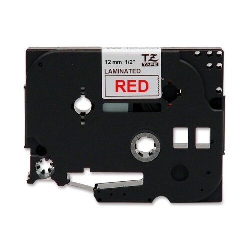 "Brother TZE232 Laminated Tape Cartridge, For TZ Models, 1/2"", Red/White"