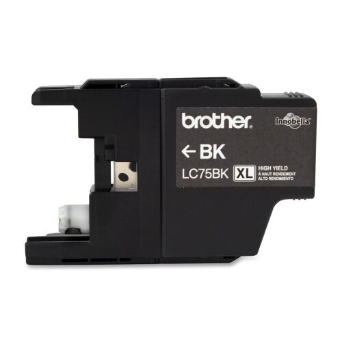 Brother LC75BK High-Yield Ink, 600 Page-Yield