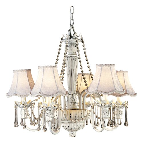 Pacific Coast Lighting Essentials Chateau Brittany Chandelier in White
