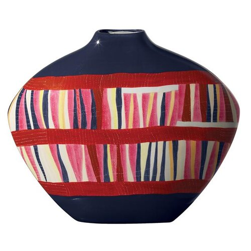 Gee's Bend The Bars and String Gourd Jar in Multicolor