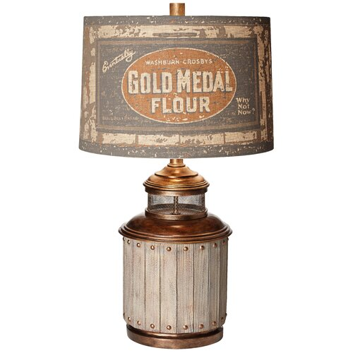 Pacific Coast Lighting PCL Old Mill Table Lamp with Drum Shade