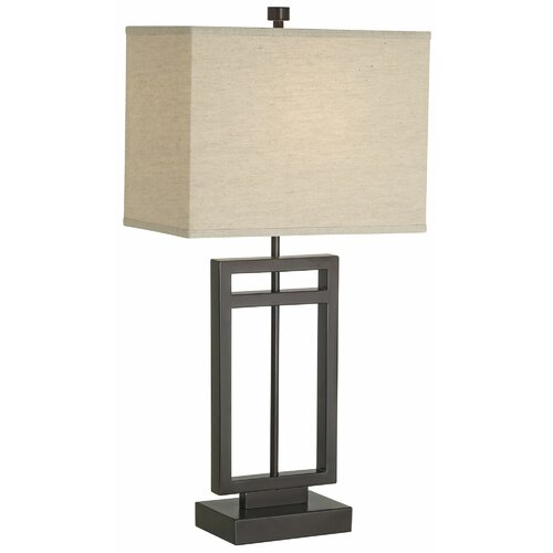 """Pacific Coast Lighting Central Loft 31"""" H Table Lamp with Rectangle Shade"""