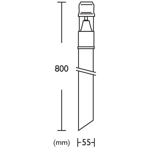 Crompton Lighting One Light Bollard Light