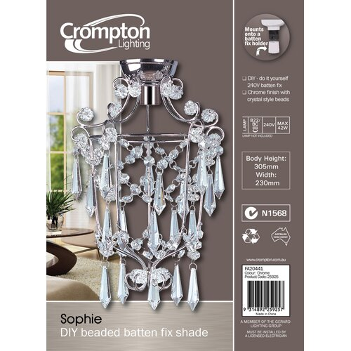 Crompton Lighting DIY Mini Chandelier  in Chrome