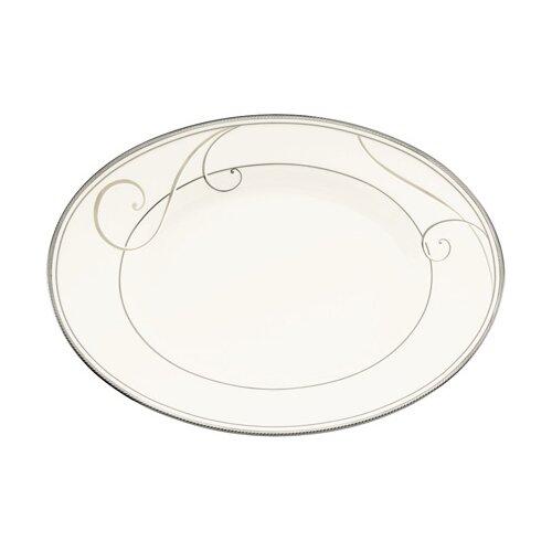 Noritake Platinum Wave Oval Platter