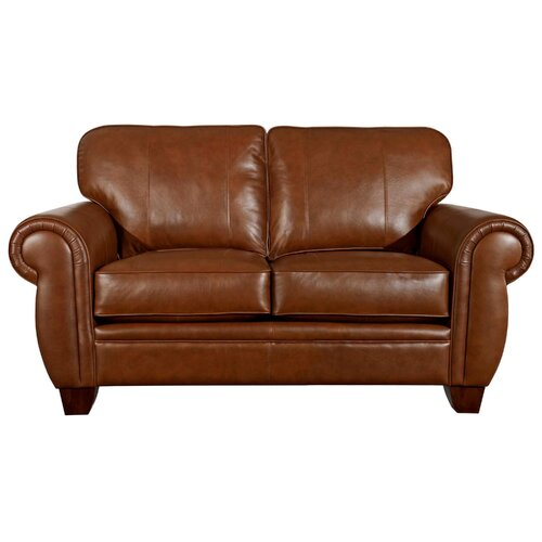 Hollander Leather Loveseat