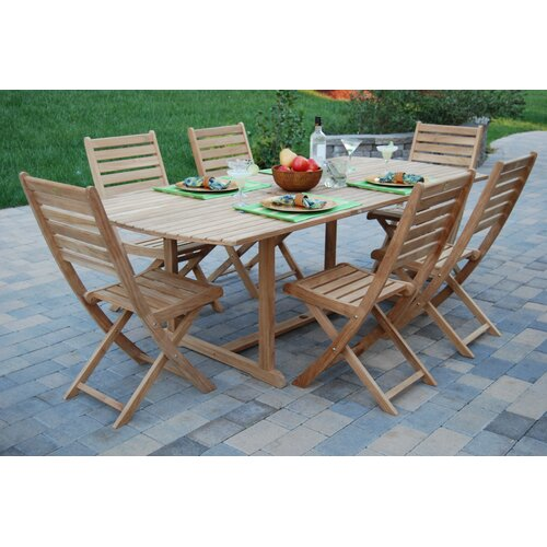 Arbora Teak St. Bart 7 Piece Dining Set