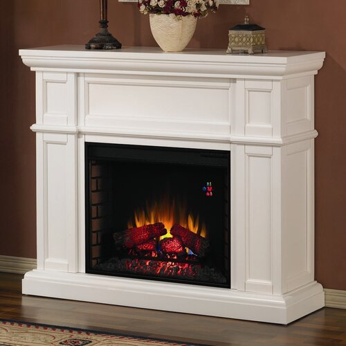 classic flame artesian mantel with electric fireplace