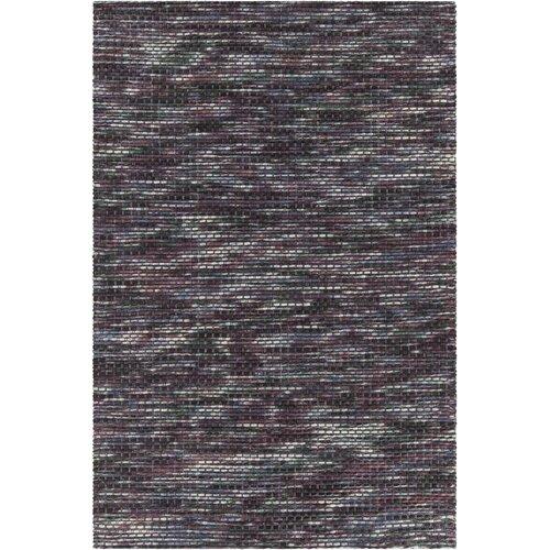 Chandra Rugs Argos Textured Contemporary Wool Purple Area Rug