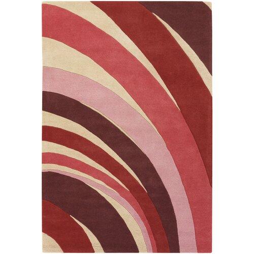 Contemporary Designer Red Rug